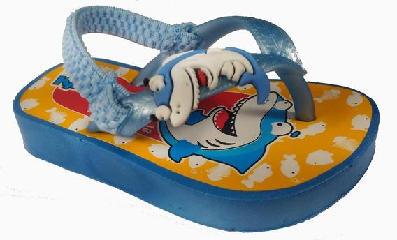 Chinelo De Dedo Menino Kiko & Kuka Tubarão - Infantil!