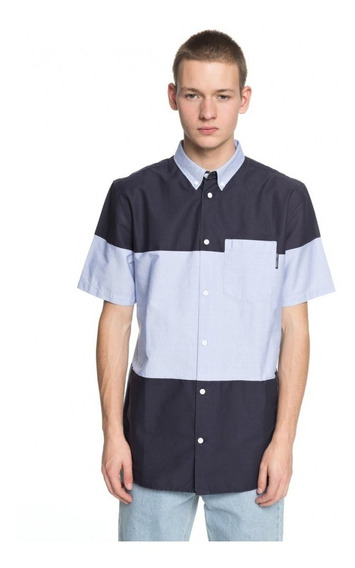 Dc Camisa M/c Lifestyle Hombre Howburn Celeste - Azul Marino