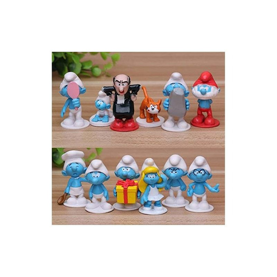 Smurfs The Lost Village Cake Topper | 12 Figura Establecer |