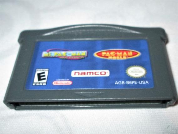 Pac Man World + Ms Pac Man Maze Madness! Game Boy Advance!