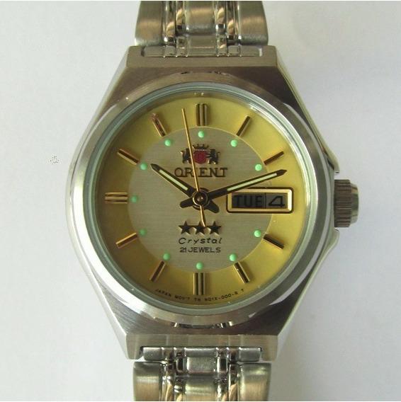 Relógio Orient Automático Feminino Aço Fnq1s00jc9