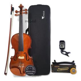 Violino Eagle 4/4 Ve441 Case Breu Arco Espaleira Afinador
