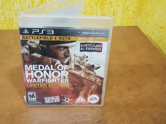Medal Of Honor Warfighter Sem Encartes Ps3 Mídia Física