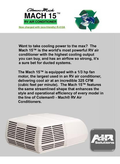 Coleman Mach 3 - 15,000 Btu Aire Acondicionado Camper Cabina