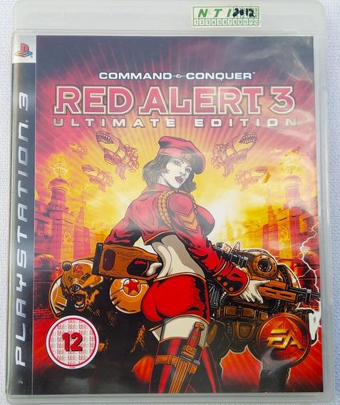 Jogo Ps3 Red Alert 3 Com Manual Perfeito Veja Fotos