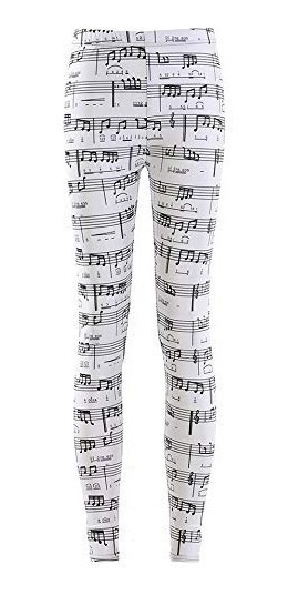 Leggings Notas Musicales Estampados
