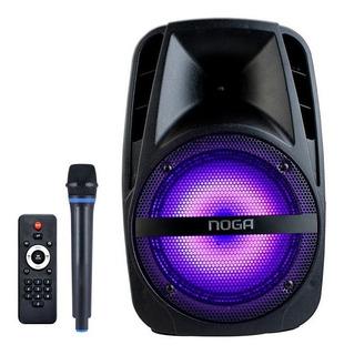 Parlante Portatil Bluetooth Con Microfono Karaoke Noga F25m