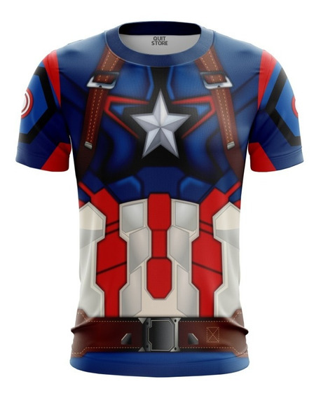 Traje Camiseta Capitão America End Game Ultimato 3d