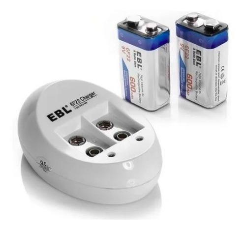 Baterias 9v Litio Recargables + Cargador