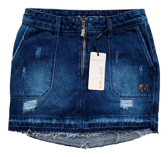 Saia Jeans Feminina Miller Deluxe Modelagem Levanta O Bumbum