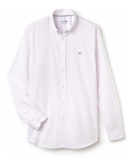 Camisa Lacoste P/caballero Formal Casual A Rayas Rosa