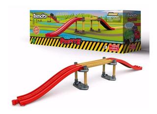 Trencity Puente 55 Cm Tren Vias De Madera Compatible Lelab
