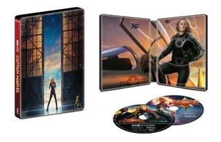 Captain Marvel Steelbook 4k Uhd + Blu-ray + Digital Code