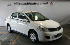 Nissan Tiida Sedan Advance Std 2016 Blanco, Aire Ac Tela .