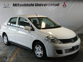 Nissan Tiida Sedan Advance Std. 2016 Blanco, Aire Ac. Tela .