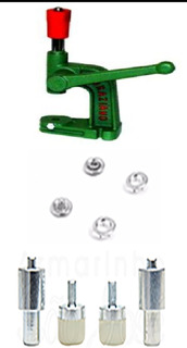 Maquina,botao Pressão Ferro Niquelado E Matriz Roupa Bb N.35