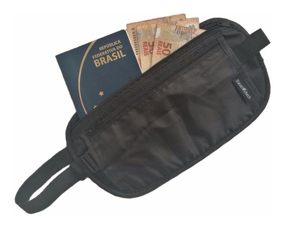 Kit 3 Porta Dólar Dinheiro Documentos Doleira Money Belt