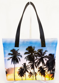 Bolsa Feminina Moda Praia Impermeável Coqueiros