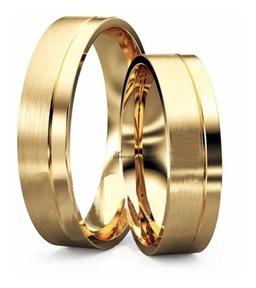 Par Aliança Ouro 10 Klts 5 Mm 5 Gramas Casamento