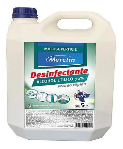 Alcohol Liquido %70 5l Antibacterial Certificado Anmat
