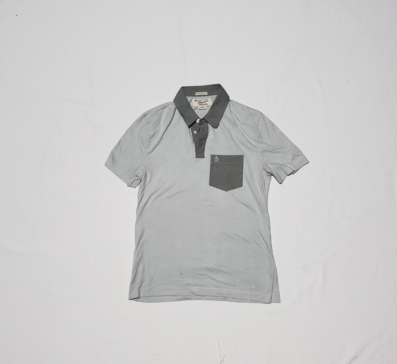Playera Polo Penguin Chica Heritage Slim Fit Gris