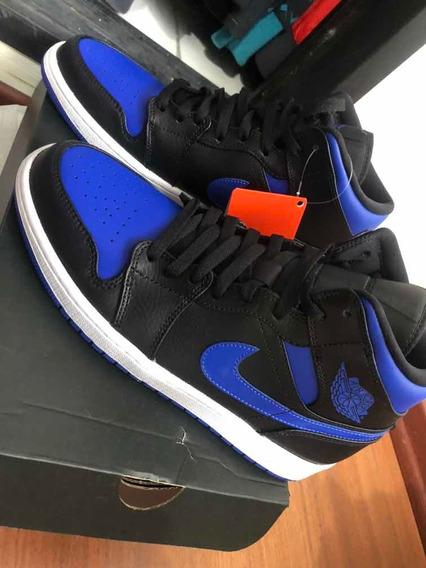 Jordan 1 Mid Black Royal Blue