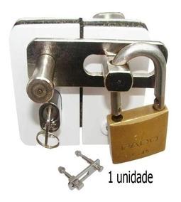 Trava Segurança Porta Vidro Blindex 2 Folha Uso Cadeado