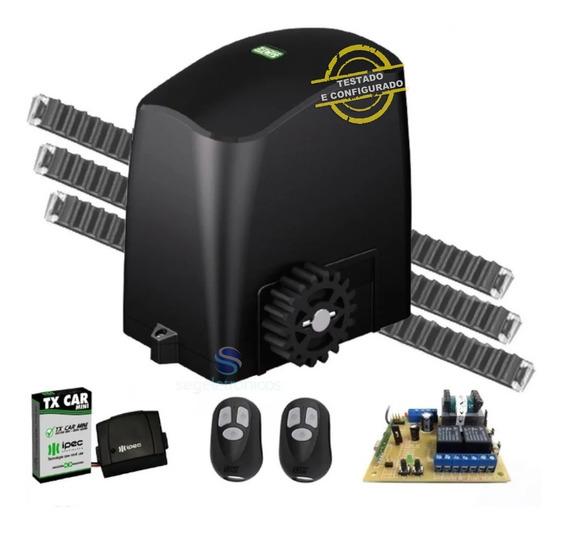 Kit Automatizador Motor 1/5hp Portão Deslizante 300kg Rcg