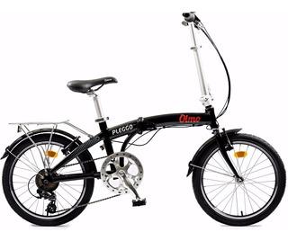 Bicicleta Plegable Olmo Pleggo 20 Full Blanca Con Negro