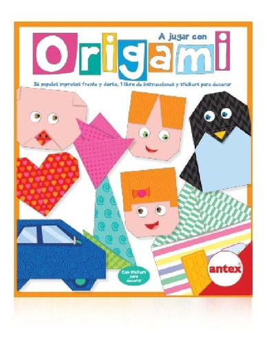 Origami Arte Japones Papel Antex 0025 Manualidades Edu Full