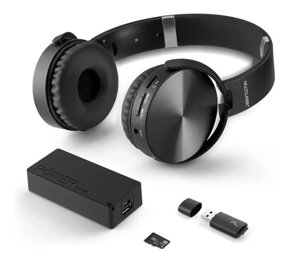 Headphone Bluetooth+power Bank 4000mh+micro Sd 32gb C/leitor