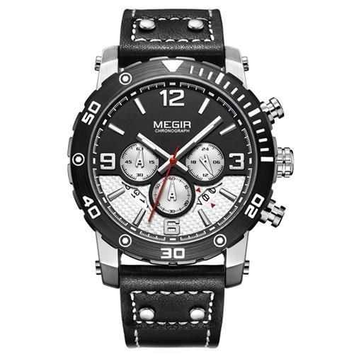 Relógio Megir Chronograph 2084 - Pulseira Couro