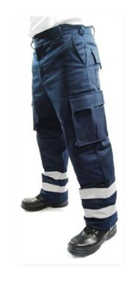 Pantalon Paramedico Con Reflejante Antirasgaduras Repelente