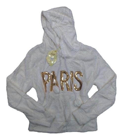 Casaco Blusa De Frio Feminina Paris Pelúcia Com Lantejoula