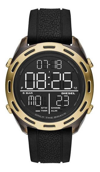 Relógio Diesel Masculino Crusher Dourado Dz1901/8pn