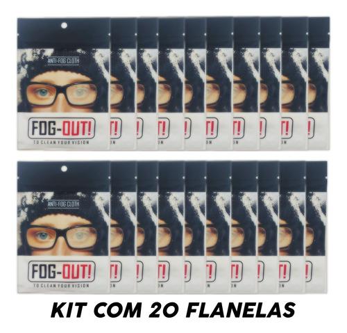Imagem 1 de 5 de Kit 20 Flanela Antiembaçante Oculos Espelho Parabrisa