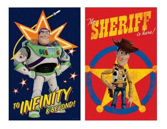 Disney 8 Rompecabezas Toy Story 4 Madera 48 Pz C/u C/estuche