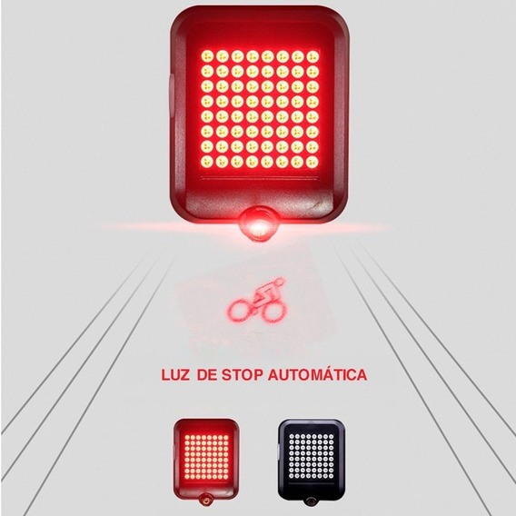 Luz Trasera Direccional Señal Giro Inalámbrico Recargable