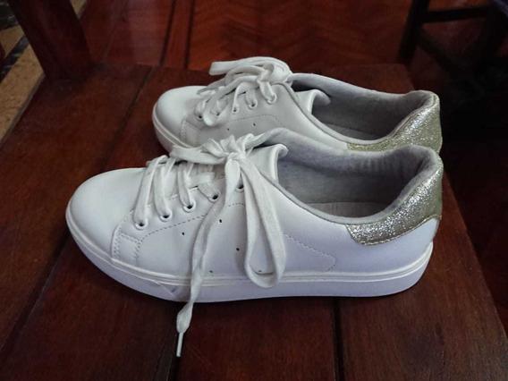 Zapatillas Blancas Y Doradas Aldo