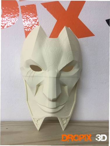 Mascara Jhin - Leage Of Legend - Lol - Impresion  Dropix 3d