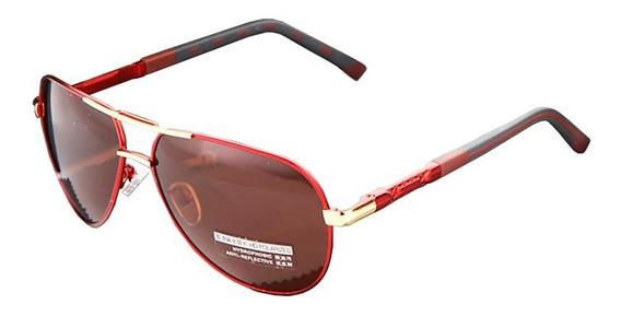 Lentes Gafas De Sol Polarizadas Barcur Design Gold Tea