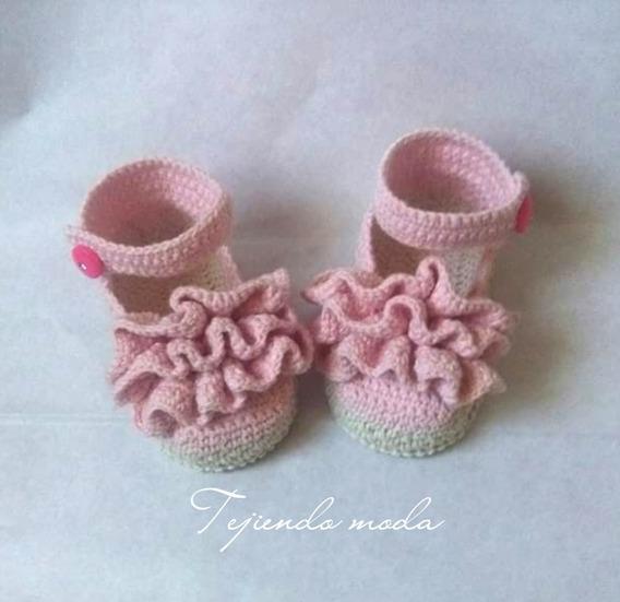 Zapatitos Tejidos En Crochet