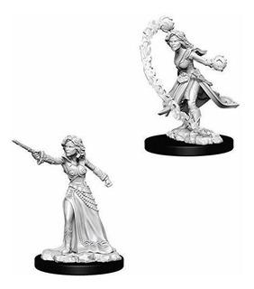 Pathfinder Deep Cuts Unpainted Miniatures Female Human Wizar