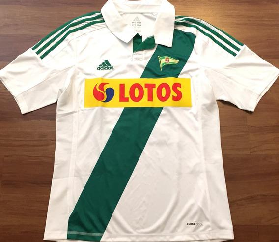 Camisa Lechia Gdansk Da Polônia Preparada P/ Jogo Rara