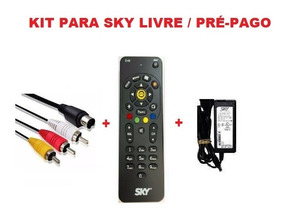 Kit Cabo Video Controle Fonte Original Sky Livre / Pré-pago