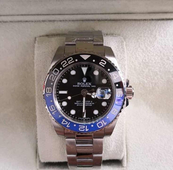 Relógio Rolex Gmt Master Ii,automático,safira,acab Suíço