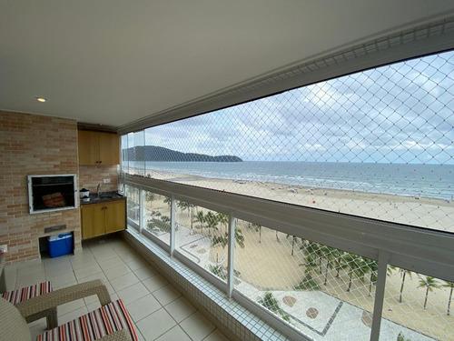 Imagem 1 de 30 de Apartamento Frente Mar Mobiliado Com 3 Dormitórios À Venda, 92 M² Por R$ 890.000 - Vila Guilhermina - Praia Grande/sp - Ap3270