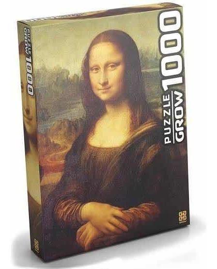 Quebra Cabeça Puzzle 1000 Peças Mona Lisa Grow