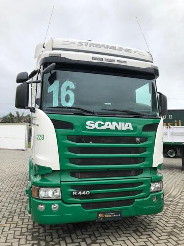 Scania Highline Streamline R440 6x2 2016 Automático Completo