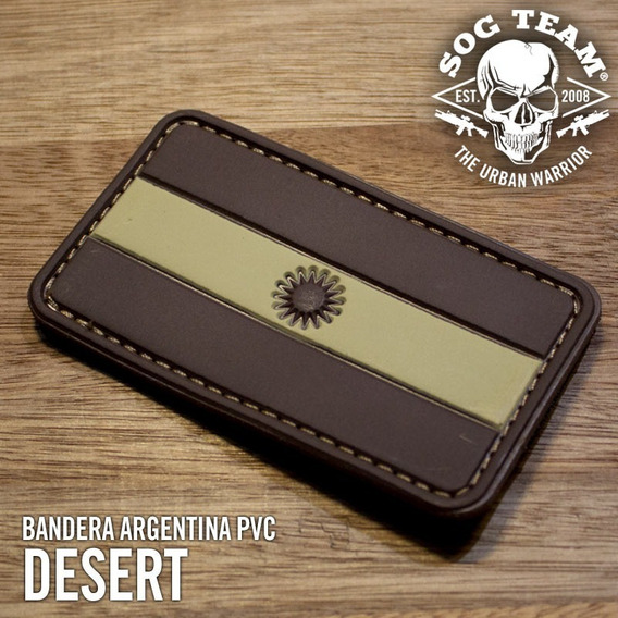 Parche Bandera Argentina Pvc Desert Arena Tan